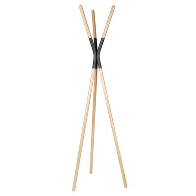 ZUIVER PINNACLE WOODEN COAT STAND in Grey