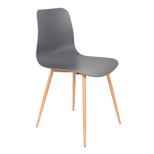 Pair of Leon Dining Chairs in Grey