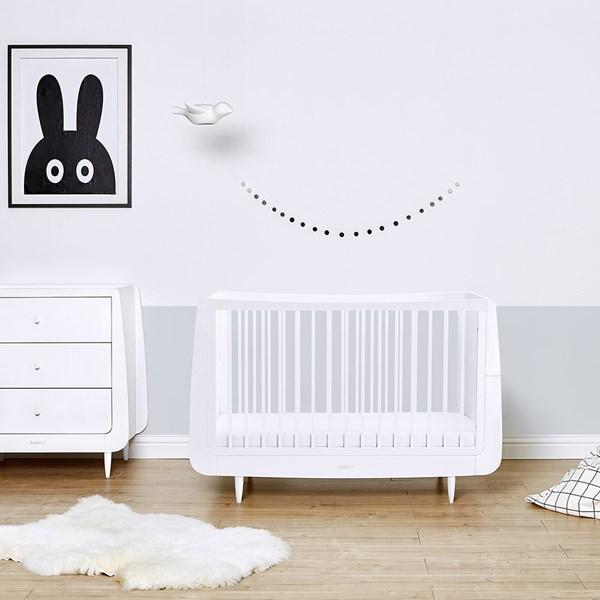 SnuzKot Skandi Cot Bed in White