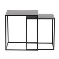 Product photograph showing Set Of 2 Ziva Side Tables By Woood