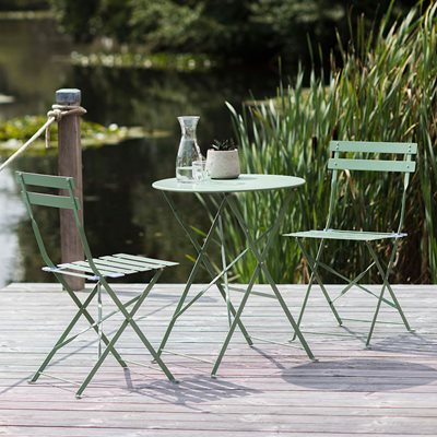 GARDEN TRADING 2 SEATER RIVE DROITE BISTRO SET in Green