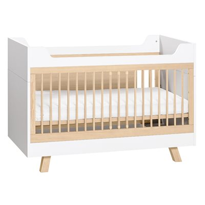 Image of 4YOU 3 IN 1 BABY AND TODDLER COT BED in White & Oak