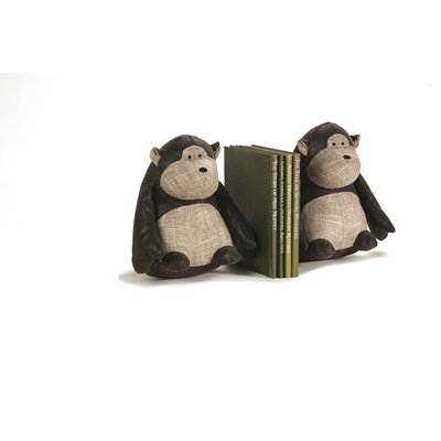 MONKEY TUNKS Animal Bookends by Dora Designs