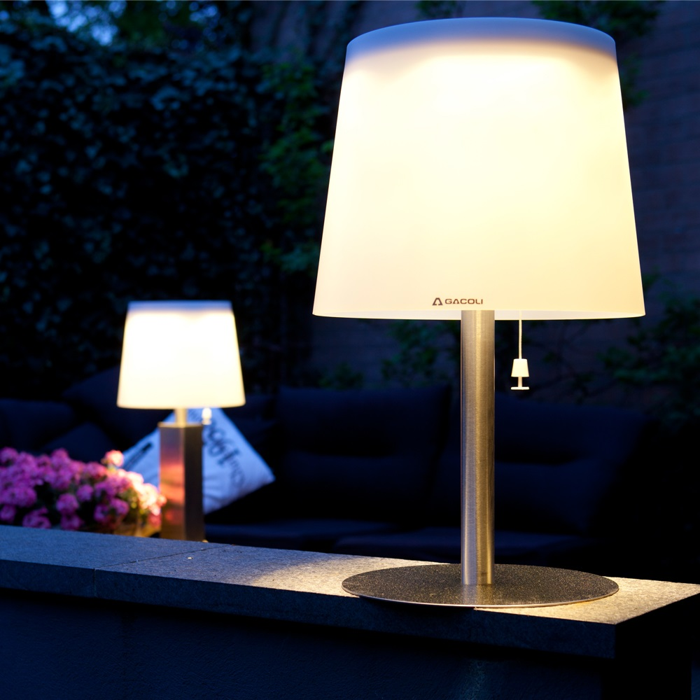 Monroe Solar Led Garden Table Light With Remote Control Gacoli