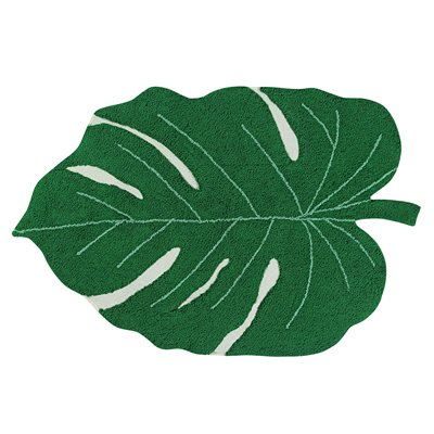 Washable Rug in Monstera Leaf design