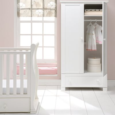 EAST COAST NURSERY MONTREAL DOUBLE WARDROBE in White
