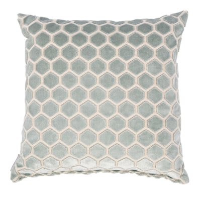 MONTY HONEYCOMB CUSHION in Vintage Blue