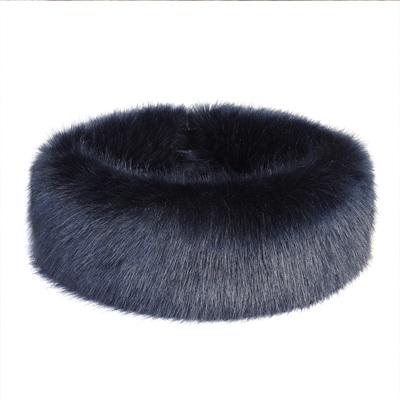 HELEN MOORE FAUX FUR HUFF in Midnight