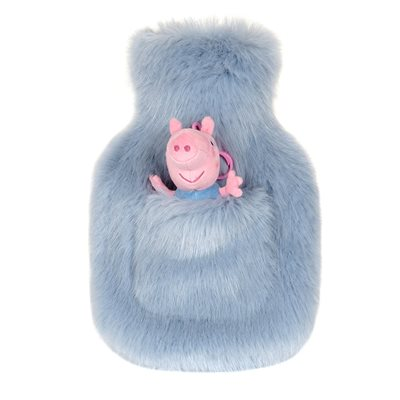 HELEN MOORE GEORGE PIG HOT WATER BOTTLE in Powder Blue