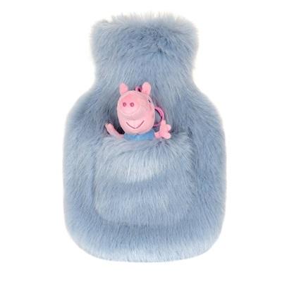 HELEN MOORE GEORGE PIG HOT WATER BOTTLE in Powder Blue
