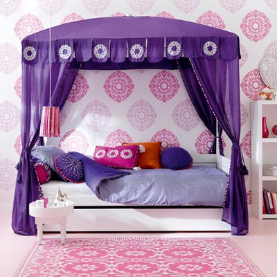 MOROCCO CHIC LUXURY GIRLS 4 POSTER CABIN BED