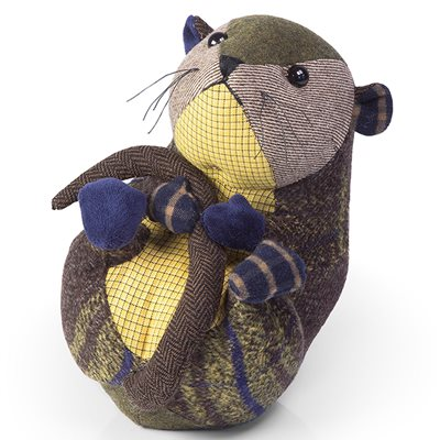 PATCHWORK MOUSE Animal Doorstop