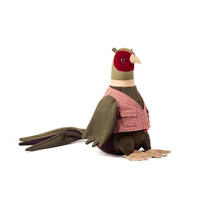 Mr Ringneck Pheasant Bird Animal Doorstop by Dora Designs