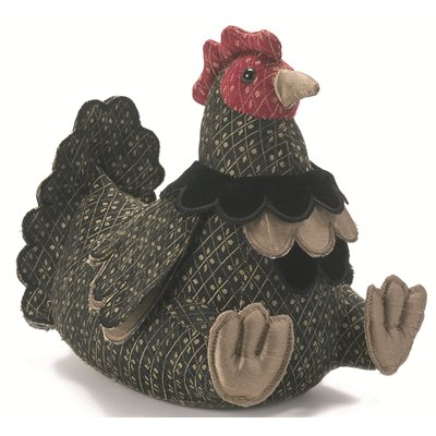 MRS COCKOLARUM Chicken Animal Doorstop by Dora Designs