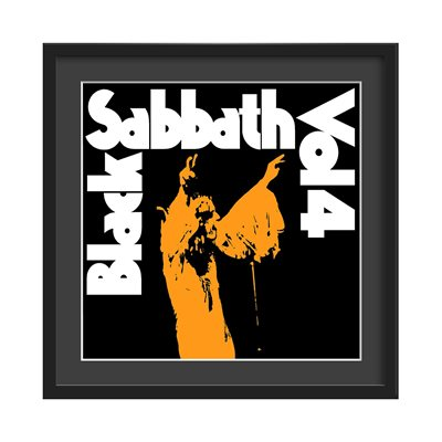 BLACK SABBATH FRAMED ALBUM WALL ART in Vol 4 Print