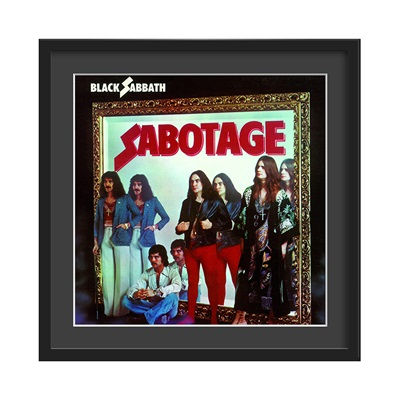 BLACK SABBATH FRAMED ALBUM WALL ART in Sabotage Print