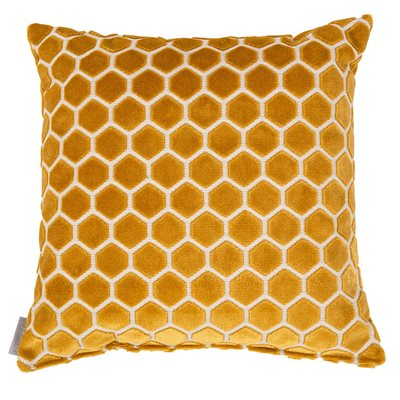 MONTY HONEYCOMB CUSHION in Mustard Yellow