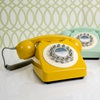 mustard yellow retro telephone