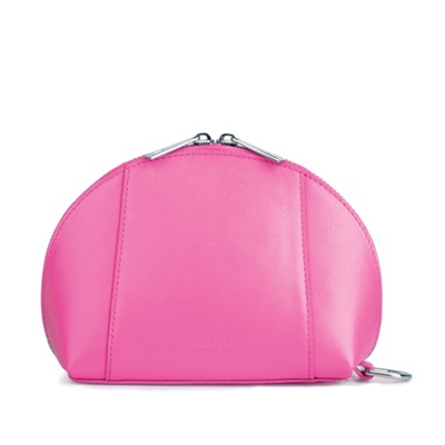 GILLAN Fashion Cosmetic Bag Phone Charger in Neon Magenta