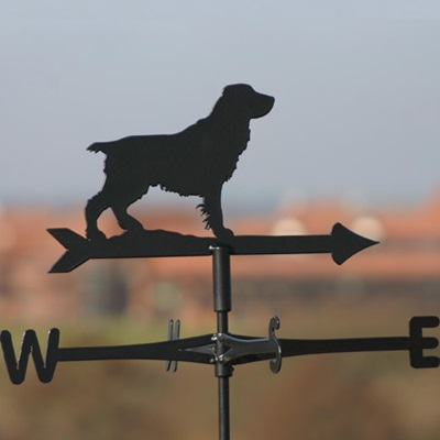 Weathervane in Spaniel (Field) Design with Docked Tail