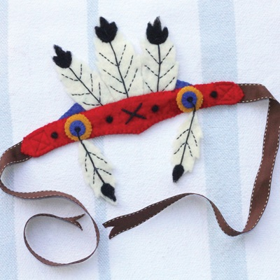 NATIVE AMERICA FEATHER HEAD DRESS CHILDRENS DRESSING UP SET