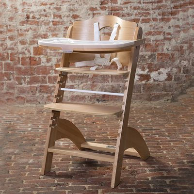 Lambda 2 Wooden High Chair in Natural