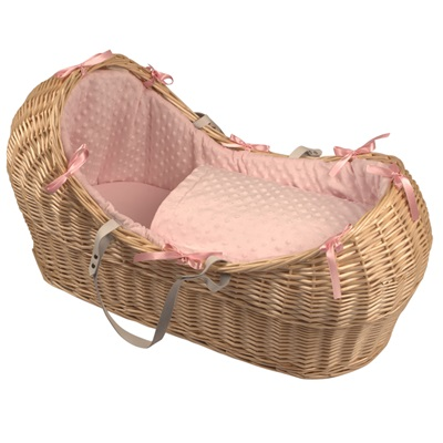 BABY SNOOZE POD in Natural Wicker & Dimple Fabric