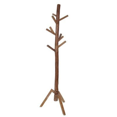 WOODEN COAT STAND in Natural