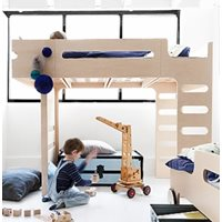 F DESIGNER KIDS LOFT BED in Natural Finish