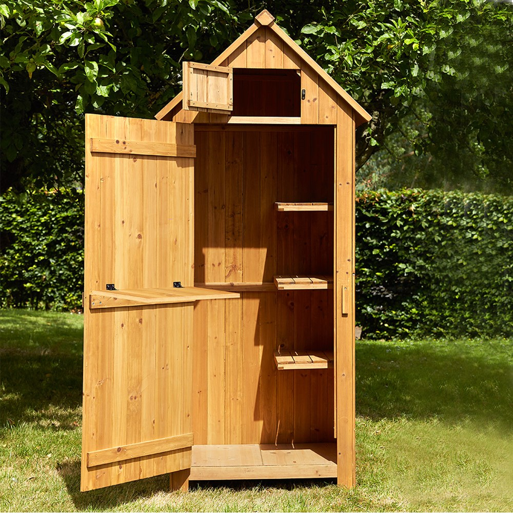 Beach Hut Tool Shed In Natural Finish Brundle Gardener