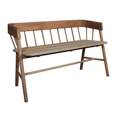 TEAK INDOOR WOODEN BENCH SEAT in Natural Finish