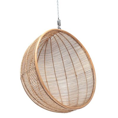 RATTAN INDOOR HANGING CHAIR in Natural Finish