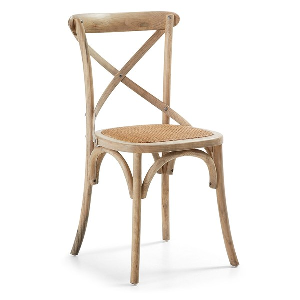 Pair of Silea Wooden Dining Chairs in Natural