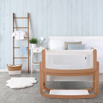 SNUZPOD 2 3-in-1 BEDSIDE CRIB including Mattress in Natural