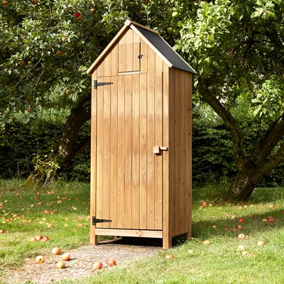 BEACH HUT TOOL SHED in Natural Finish