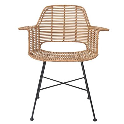 SCANDI STYLE RATTAN TUB DINING CHAIR in Natural