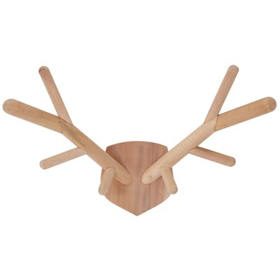 WOODEN DECORATIVE DEER ANTLERS in Natural Finish