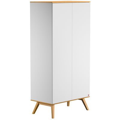 Vox Nature Double Wardrobe in White & Oak