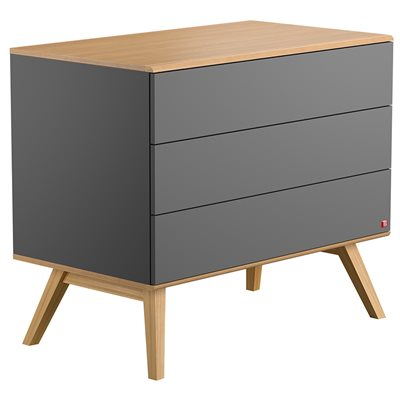VOX NATURE CHEST OF DRAWERS in Dark Grey & Oak