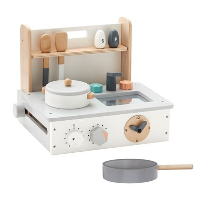Children's Mini Wooden Toy Kitchen Set in Nature