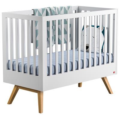 Vox Nature Baby & Toddler Cot Bed in White & Oak