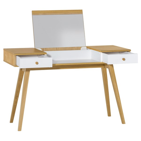 Vox Nature Dressing Table in White & Oak Effect