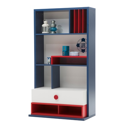 CHILDREN'S BOOKCASE in Nautica Design