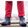 Navy Non Slip Ankle Wellies for winter