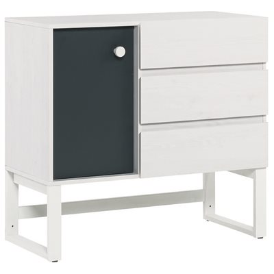 NEST 3 DRAWER AND CUPBOARD UNIT in Larch Effect & Graphite