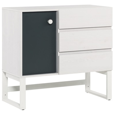 VOX NEST 3 DRAWER AND CUPBOARD UNIT in Larch Effect & Graphite