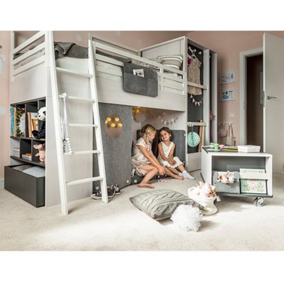 NEST KIDS CABIN BED in Larch Effect & Graphite