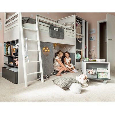 Nest Kids Cabin Bed In Larch Effect Amp Graphite Nest Bed