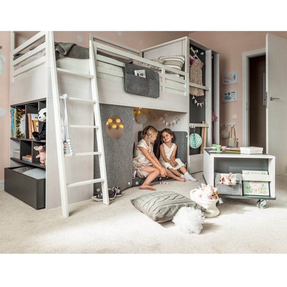 Nest Kids Cabin Bed in Larch Effect & Graphite - Nest Bed ...