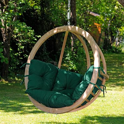 Globo Garden Hanging Chair in Weatherproof Green